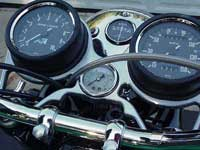 Triumph Motorcycle Tach, Speedo, & Oil Pressure 3-Gauge Bracket